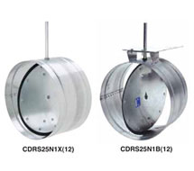 Ruskin Round Control Dampers CDRS25 Series