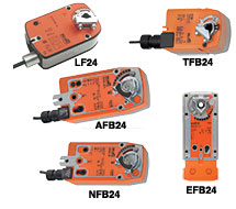 Direct-Coupled Actuators, Spring Return TFB, LF, NFB, AFB, EFB Series