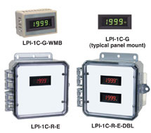 3-1/2 Digit LCD Amber / Green / Red Panel Display LPI-1C-A, LPI-1C-G, LPI-1C-R