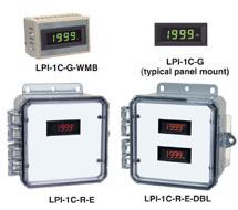 3-1/2 Digit LCD Amber / Green / Red Panel Display LPI-1C-A, LPI-1C-G, LPI-1C-R