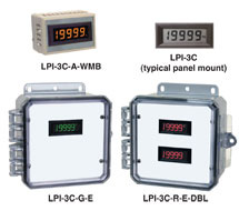 4-1/2 Digit Black / Amber / Green / Red Display LPI-3C, LPI-3C-A, LPI-3C-G or LPI-3C-R