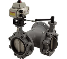 3-Way Butterfly Valves KB Series 3-Way