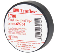 Tapes Temflex 1700 Black Vinyl Electrical Tape