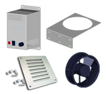 Saginaw Enclosure Accessories Latches, Locks, Ventilation, Heating, Cooling