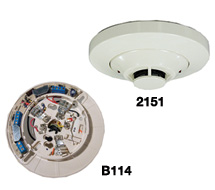 System Sensor Pendant Smoke Detector 2151 and B114 Series