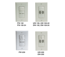 WattStopper Wall Switch Sensors DW, PW, and UW
