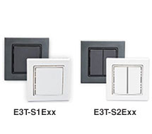EnOcean Wireless European Light Switches E9T-SxE Series