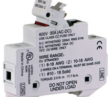 CLASS CC ENCLOSED FUSE HOLDERS 6SC30, 6SM30 Series