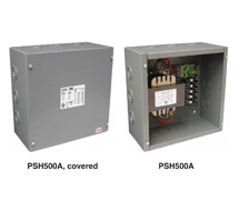 Functional Devices Enclosed Power Source - 100 VA, 24 VAC Class 2 Outputs PSH200A, PSH300A, PSH500A, PSMN300A, and PSMN500A