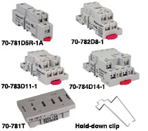 Magnecraft Relay Sockets 70-781D5-1, 70-782D-1, 70-783D-1, 70-784D-1