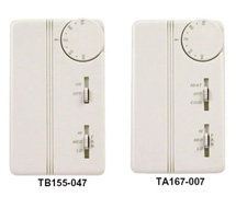 Line and Low Voltage Two-Position  and Proportional Thermostats T155, T167 Series