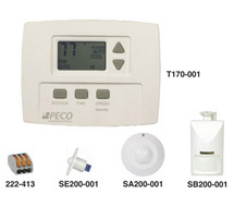 Fan Coil Thermostat with ADA-Compliant Digital Display T170 Series