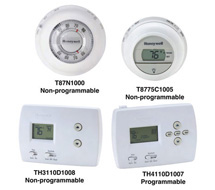 Residential Thermostats, Programmable and Non-programmable T87, TH3000, and TH4000 Series