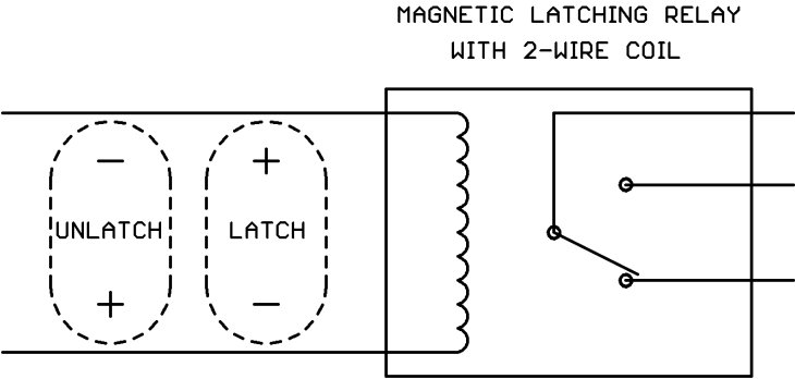 relay fundamentals other magnetic latching relays have just two coil wires but the polarity of the applied dc drive determines whether the command is latch or unlatch