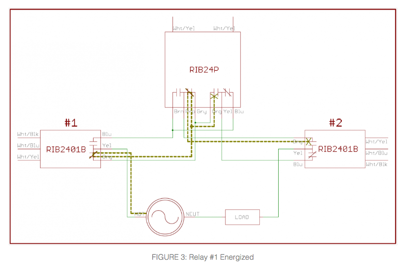on 4 way switch electrical plan